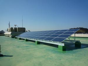 太陽光発電設備の写真