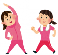 運動する女性1