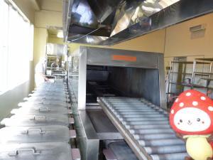 お米を炊く機械の写真