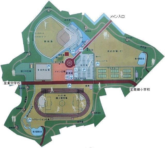施設全体図(成東総合運動公園)