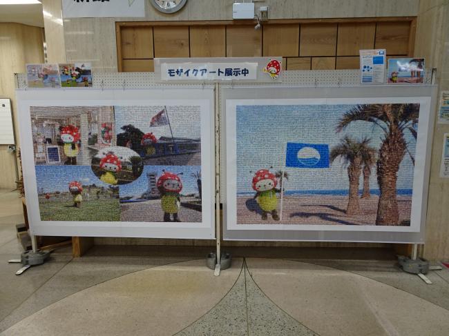 モザイクアート展示
