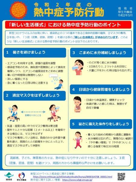 令和2年度の熱中症予防行動チラシ