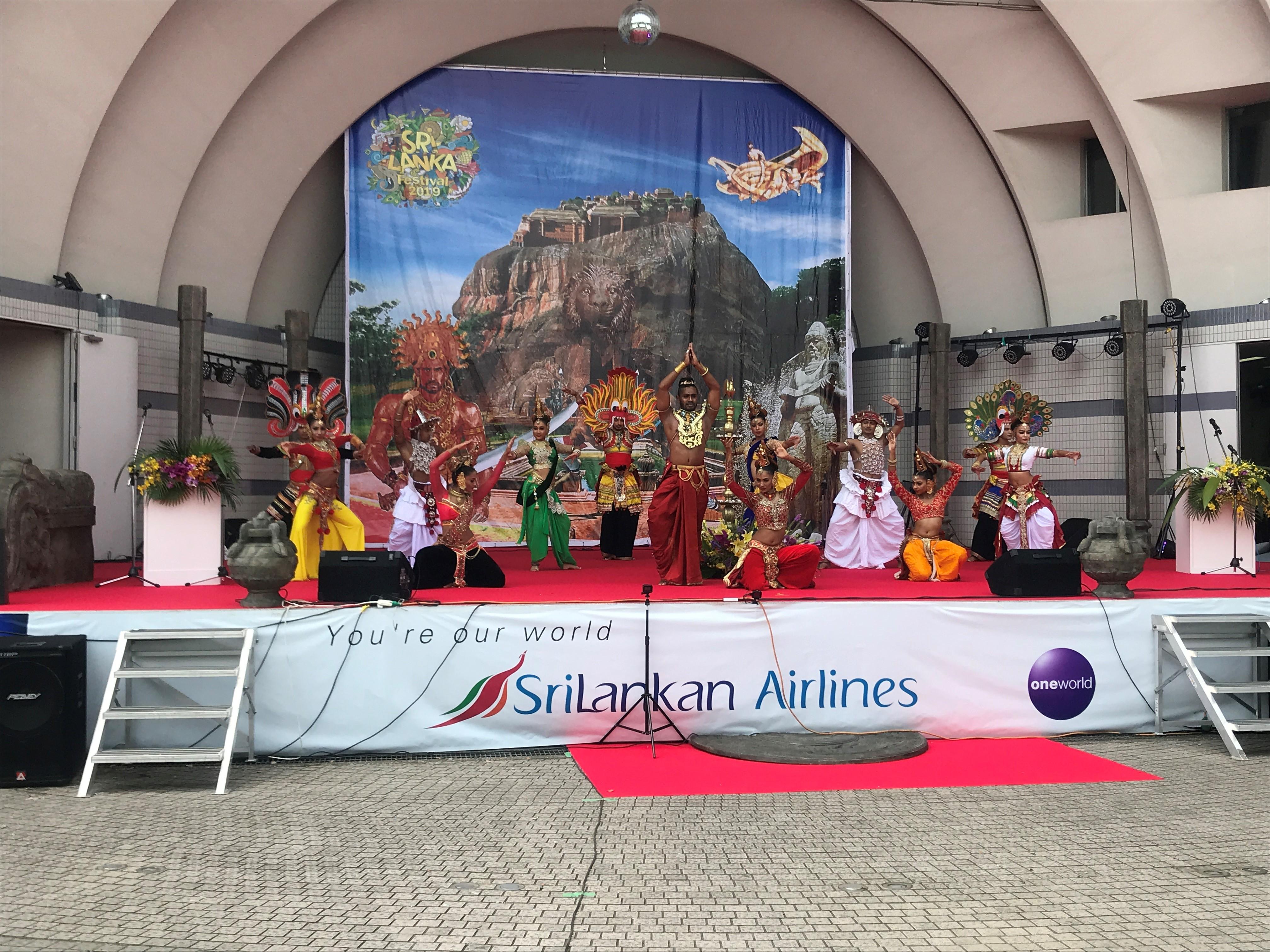 スリランカフェスティバル2019ステージ